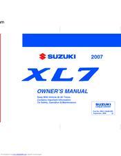 Suzuki xl7 2007 2008 2009 factory service shop repair manual.