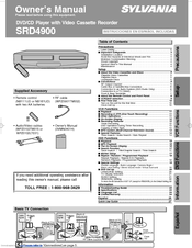 Sylvania SRD4900 Owner's Manual