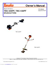 Tanaka TBC-430PF, TBC-420PF Owner's Manual