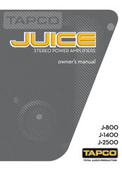 Tapco J1400 User Manual