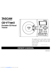 Tascam CD-VT1MKII Owner's Manual