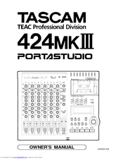 Tascam portastudio 424 * owner's manual *.