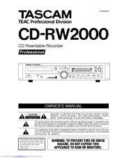Tascam CD-RW2000 Manuals