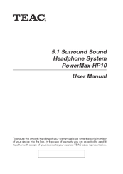 Teac PowerMax-HP10 User Manual