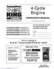 tecumseh lh318sa lh358sa hmsk80 110 manuals rh manualslib com By Starting a Tecumseh Snow King Snowblower Tecumseh Snow King Snow Blower
