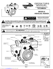 tecumseh hssk50 manuals rh manualslib com Tecumseh HSSK50 Carb Tecumseh Model HSSK50