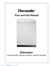 thermador dw44zp manuals rh manualslib com Thermador Dishwasher Diagram Thermador Dwhd640jfp Dishwasher