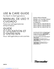 Thermador KBURT3651A Use And Care Manual