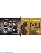 timex expedition ws4 manuals