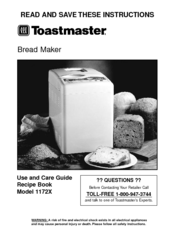 Toastmaster Coffee Maker Parts : Toastmaster 1172X Manuals