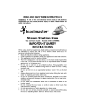 Toastmaster 3348/3348MEX Important Safety Instructions Manual
