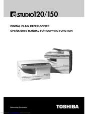 Toshiba 120/150 Operator's Manual