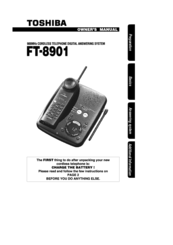 Toshiba FT-8901 Owner's Manual