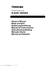 Toshiba B-SX8T SERIES Owner's Manual