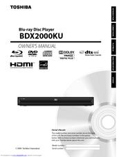toshiba bdx2000 1080p blu ray disc player manuals rh manualslib com toshiba blu ray bdx3400 manual toshiba blu ray instruction manual