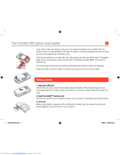 Toshiba 803 Quick Start Manual