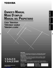 Toshiba 13A23 Owner's Manual