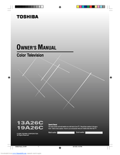 Toshiba 13A26 Owner's Manual
