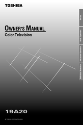 Toshiba 19A20 Owner's Manual