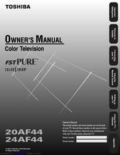 Toshiba 20af44 Manuals Manualslib