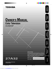 Toshiba 27A32 Owner's Manual