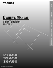 Toshiba 27A40 Owner's Manual