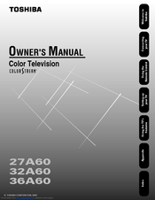 TOSHIBA 27A60 OWNER'S MANUAL Pdf Download