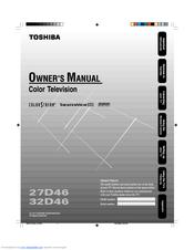 toshiba 32d46 32 crt tv manuals rh manualslib com Toshiba E-Studio203sd Manuals Garmin GPS User Manual
