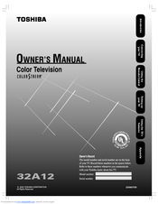 Toshiba 32A12 Owner's Manual