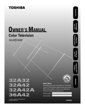 Toshiba 36A42 Owner's Manual