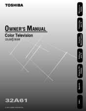 Toshiba 32A61 Owner's Manual