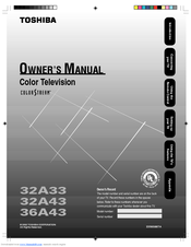 Toshiba 36A43 Owner's Manual