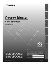 Toshiba 36AFX62 Owner's Manual
