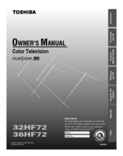 Toshiba 36HF72 Owner's Manual