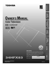 Toshiba 34HFX83 Owner's Manual
