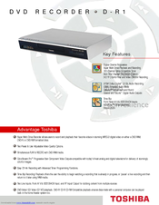 Toshiba D-R1 Specification Sheet