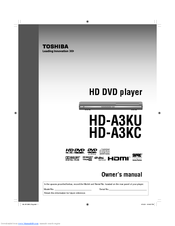 toshiba hd a3 hd dvd player manuals rh manualslib com Toshiba HD DVD Player HD Toshiba TV Troubleshooting