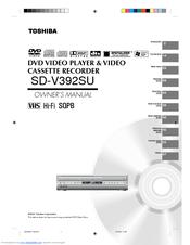 toshiba sd v392 dvd vcr combo manuals rh manualslib com toshiba dvd vcr combo manual sd-v295ku toshiba dvd vcr combo instruction manual