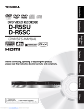 Toshiba D-R5SU Owner's Manual
