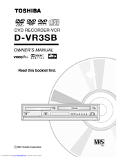 Toshiba D-VR3SB Owner's Manual