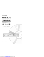 Toshiba D-VR3 Owner's Manual