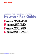 Toshiba 230/280 Network Fax Manual