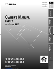 Toshiba 14VL43U Owner's Manual