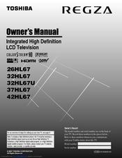toshiba regza 26hl67 owner s manual pdf download rh manualslib com Toshiba Regza TV Manual Toshiba Regza TV Manual