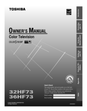 Toshiba 32HF73 Owner's Manual
