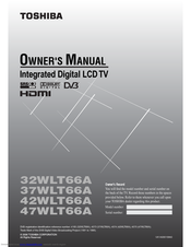toshiba 32wlt66a owner s manual pdf download rh manualslib com Toshiba TV Buttons Toshiba TV Buttons