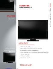 toshiba 37av52r 37 lcd tv manuals rh manualslib com Toshiba Remote Manuals toshiba 37av500u manual