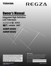toshiba regza 40rf350u owner s manual pdf download rh manualslib com Toshiba Cinema Series Manual Toshiba Cinema Series Manual