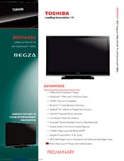 toshiba regza 40xv645u manuals rh manualslib com Toshiba E-Studio203sd Manuals Toshiba 55HT1U Manual
