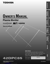 toshiba 42dpc85 plasma monitor service manual download